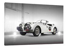 Jaguar XK-120 - 30x20 Inch Canvas - Framed Picture Print Wall Art Classic Car