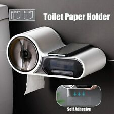 Toilet Paper Holder Wall Mount Bathroom Tissue Storage Box Waterproof Punch Free
