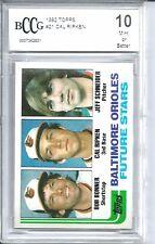 1982 Topps Baseball #21 Cal Ripken Rookie Card BGS BCCG 10