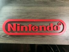 Nintendo Wall art sign decoration 17in x 4in