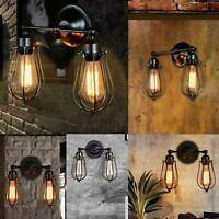Modern Vintage Industrial Wall Mounted Light Rustic Sconce Lamp Fixture Light UK