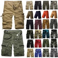 Hombre Estilo Militar Combate Camuflaje Pantalones cortos exterior Informal