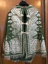 Antiguo cachemira de estilo victoriano mano bordado Cape Chal de pashmina