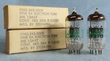 2-Sylvania JAN JHS 12AV7 Vacuum Tubes NOS/NIB Amplitrex Tested Gray Plts O Gett