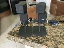 Bose Lifestyle Jewel Cube Speaker Pair with Wires & Stands