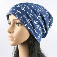 Womens Men Knitted Baggy Slouch Beanie Hats Crochet Ski Winter Warm Caps Unisex