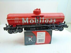 "O & O-27 Gauge K-Line #K632-8019 ""Mobile Gas"" Single Dome Tan Car Rd #2059"