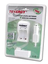 Tenergy 2 RCR123A CR123A Rechargeable LifePO4 Batteries with Charger