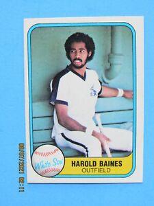 1981 FLEER # 346 HAROLD BAINES ROOKIE HOFer NM-MT MINT RC