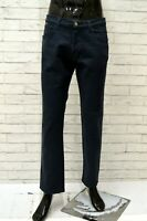 Jeans Uomo ICEBERG Taglia Size 52 Pantalone Pants Man Cotone Blu Gamba Dritta