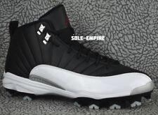 Nike Jordan 12 Retro MCS Cleats 625219-001 Men's 2013 Black White Red Playoff