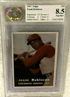 FRANK ROBINSON 1957 TOPPS ROOKIE #35 CSA 8.5 NM/MT+ SUBS (8.5 8 9 9 8 9) REDS