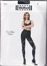 Collant WOLFORD CECILIA coloris Black/White. Taille S. Tights.