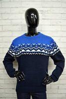 Maglione Blu Donna PULL & BEAR Taglia Size M Woman Pullover Cardigan Lana Wool