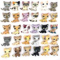 10 PCS Rare Littlest pet shop lot cats LPS short hair cat cute Kitty girls toys