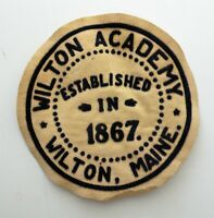Wilton Academy Wilton, Maine Vintage High School Patch Free Shipping