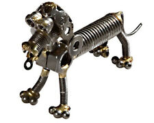 Hand Crafted Recycled Metal Dachshund Dog  Art Sculpture Figurine