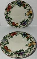"2 Sakura Sonoma Excell Round Stoneware Chop Plate Platter Oneida 12 1/2"" New"