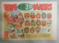 Kellogg's Cereal Ad: New 3-D Masks Premium From 1954 Size: 7 x 10 inches