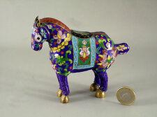 STATUETTE  en céramique décorée d'émail cloisonné, 12 cm, cheval