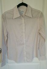 Womens Brooks Brothers blouse 8 long sleeve fitted non-iron button dress shirt