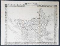 1860 John Rapkin Large Antique Map of Ottoman Empire in Europe - Turkey