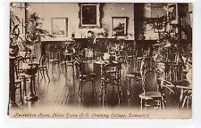 REC ROOM, NOTRE DAME R.C. TRAINING COLLEGE, DOWANHILL: Glasgow postcard (C20271)
