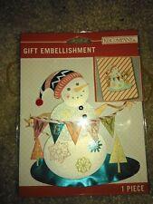 K&Company 30-700789 Snowman Banner Gift Embellishment  #1230 -NEW!!