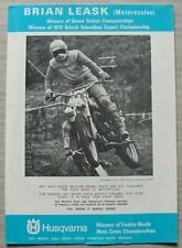 YAMAHA & Husqvarna Motorcycle Parts accessori Brian Leask SALES BROCHURE c1976