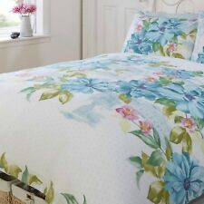 Single Duvet Set Contemporary Floral Teal