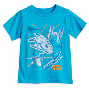 Disney Store Authentic Star Wars Starships T-Shirt for Boys T Shirt Size 10/12