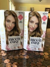 2X LOT New CLAIROL Nice N Easy PERMANENT Hair Color #7G DARK Golden BLONDE Boxed