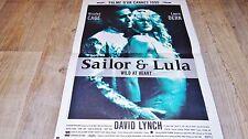 david lynch SAILOR ET LULA   ! affiche cinema