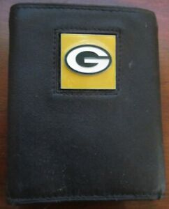 Green Bay Packers Leather Tri-Fold Wallet, NFL Trifold eC
