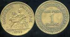 FRANCE  FRANCIA   1 franc CHAMBRE DE COMMERCE 1921