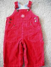 boys RED CORDUROY BIB OVERALLS snowflake WINTER pants TALBOTS KIDS 6 months