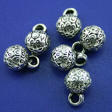 25pcs Tibetan silver ball charms findings h1581