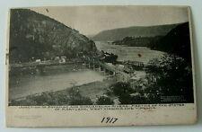 1917 Postcard Junction Of Potomac & Shenandoah Rivers West Virginia Maryland