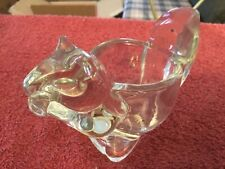Avon Glass Squirrel Votive Candle Holder