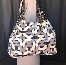Coach L Madison Chainlink Maggie Mia Shoulder Bag Handbag Hobo Purse 14420