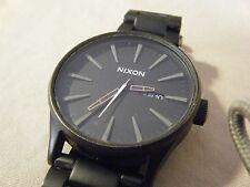 Nixon Sentry Mens Analog Watch Sport Black Band