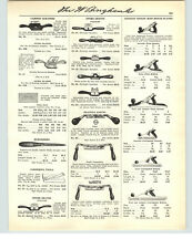 1941 PAPER AD 6 PG Stanley Bailey Iron Bench Block Plane Parts Repair