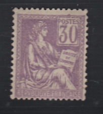 FRANCE MOUCHON TYPE II yt 115 N** TTB 30c violet cote 315€ TTB