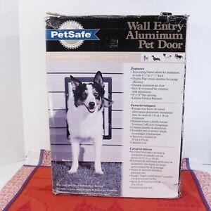 PetSafe Wall Entry Pet Door Telescoping Tunnel Aluminum Medium New in open box.