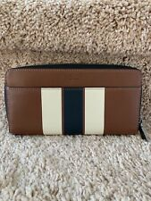 NWT AUTHENTIC COACH Men's Calf Leather Accordion Zip Long Wallet, F75395