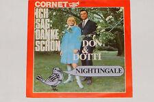 """DON & DOTTI -Ich Sag: Danke Schön / Nightingale- 7"""" 45 Cornet Records (3017)"""