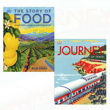 Story of Food and Journey 2 Books Collection Set An Illustrated History NEW
