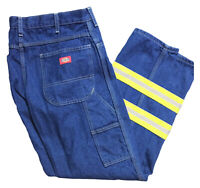 Dickies HiVis Enhanced Visibility Industrial Work Uniform Carpenter Jeans Blue