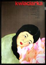 Kwiaciarka Polish movie poster Poland unfolded Chon En Chi, Chwa Son, Ru Chu Nam