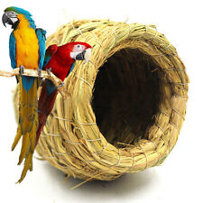 New Handmade Straw Weave Bird Nest House Parrot Hatching Breeding Pet Grass Cave